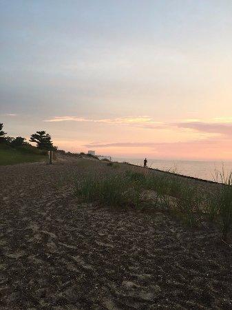 Zion, IL: Sunrise on the beach.