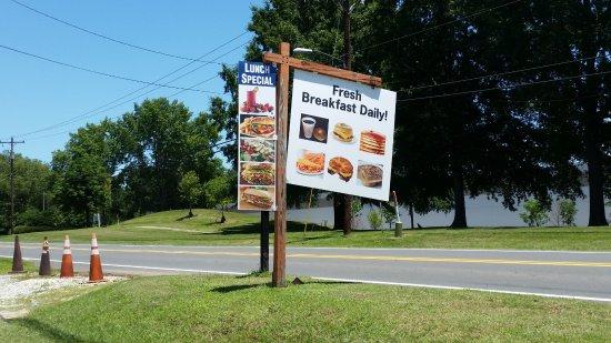Roadside sign