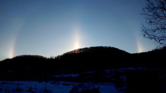 La Farge, Висконсин: Kickapoo Valley sundog-view from Apple Butter Room