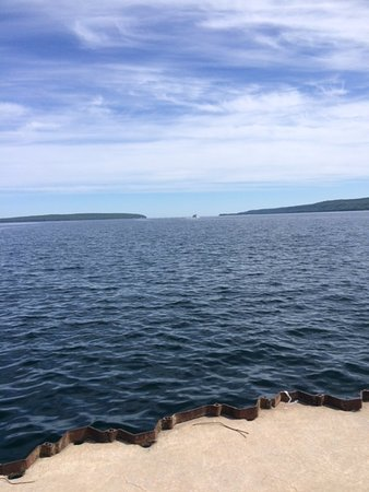 Holiday Inn Express Munising -  Lakeview: View from the outdoor seating/breakfast area