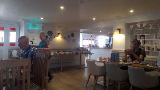 Breakfast area at the Rashleigh Arms
