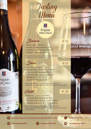 Montalto delle Marche, Italia: Our tasting menu is perfect for the aperitif.