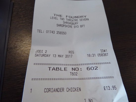 The Foundry: Our Food Bill