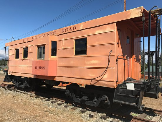 Milwaukee Road Caboose in South Cle Elum, WA