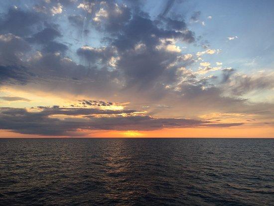 Saugatuck, MI: View of Sunset on Lake Michigan