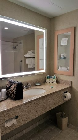 Holiday Inn Express Hotel & Suites Watertown-Thousand Islands: Nice size & very clean bathroom