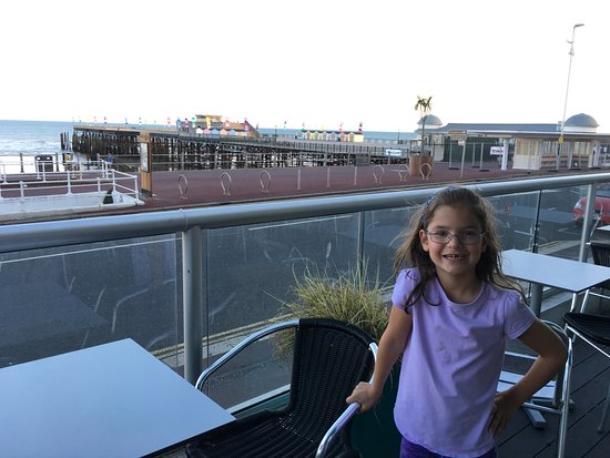 The White Rock Hotel: View from the outdoor seating area