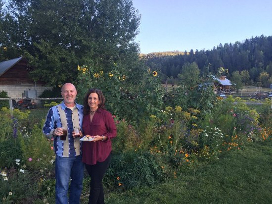 Victor, ID: Guests enjoying the garden