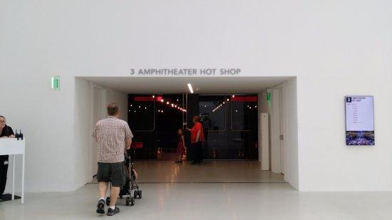 Corning, NY: entrance to the auditorium