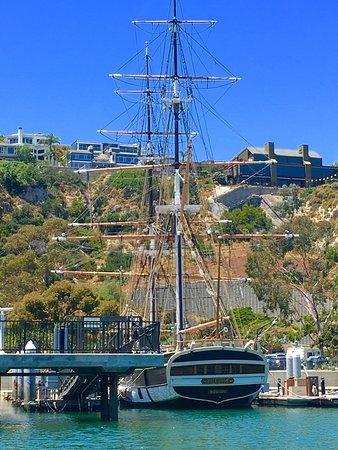 ThePILGRIM entered Dana Point Harbor in Sept 1981, full-sized replica of the Original1825 Pilg
