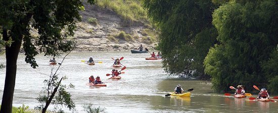 Victoria, Teksas: Paddling on the Guadalupe River