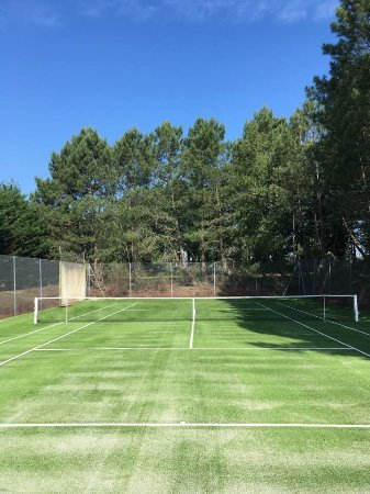 Dordogne, France: New Astro turf tennis court