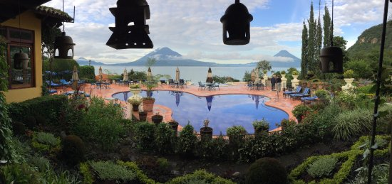 Hotel Atitlan: My view upon waking on my birthday!