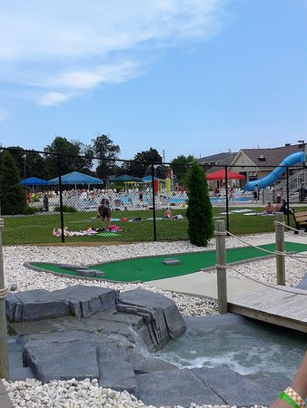 Manitowoc, WI: View of waterpark from mini golf area.