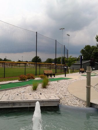 Manitowoc, WI: Partial view of ball diamond from mini golf course.