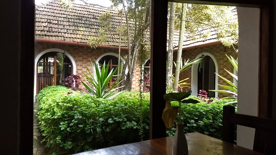Ambadi: View from a table, this is the courtyard of the building.