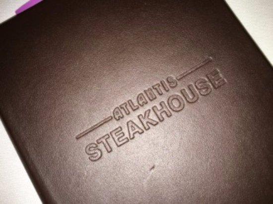 Atlantis Steakhouse at Atlantis Casino Resort Spa: Menu