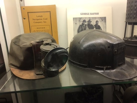 No. 9 Coal Mine & Museum: Miners' hats.