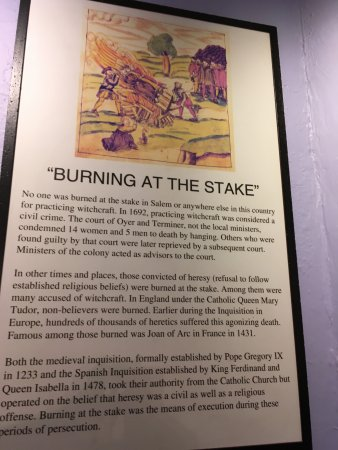 Salem Witch Museum: Burning at the Stake