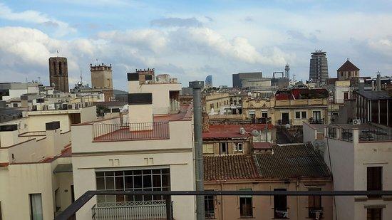 Turin Hotel: Zicht op kabelbaan naar Montjuich