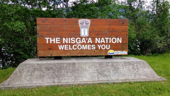 New Aiyansh, Canada: Welcome sign