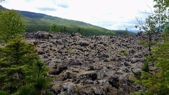 New Aiyansh, Canada: View of the lava fields