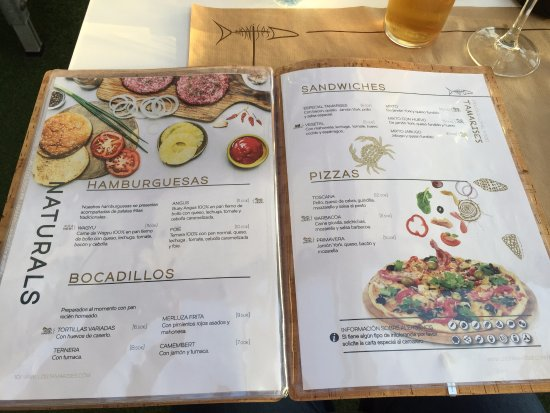Carta 2 Picture Of Tamarises Terraza Bar Bistrot Getxo Tripadvisor