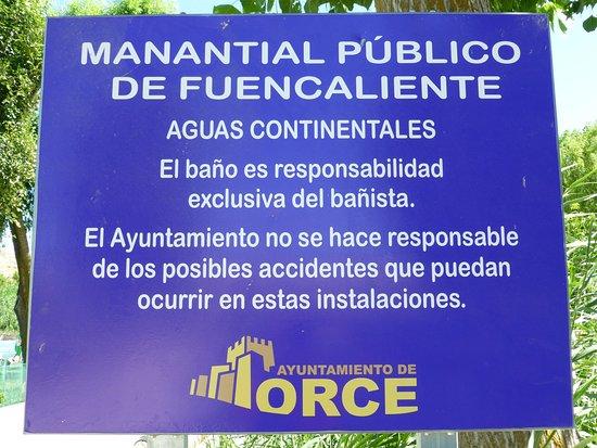Orce, Spain: Panel informativo