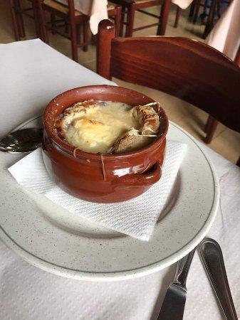 Meranges, Ισπανία: Sopa de ceba
