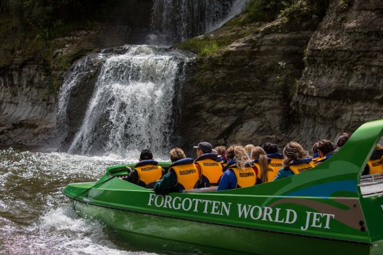 Forgotten World Adventures: Our jetboat will take you on a comfortable ride to the Bridge to Nowhere