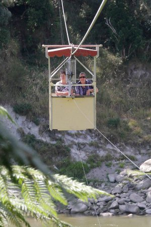 Whanganui, New Zealand: The Flying Fox is accessed by aerial cable car across the river.