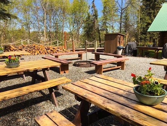 Orca Lodge: Picnic and Campfire Area
