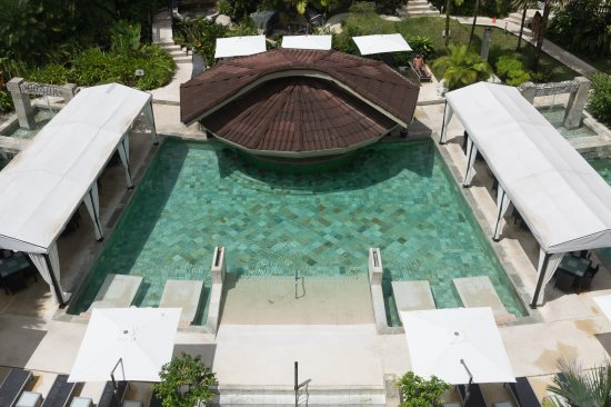The Royal Corin Thermal Water Spa & Resort: Pool from above