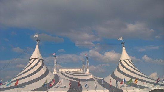The magnificient tent of Cirque du Soleil Montreal & The magnificient tent of Cirque du Soleil Montreal - Picture of ...