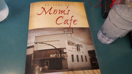 Salina, UT: Menu with picture of the outside