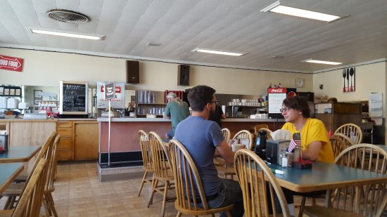Salina, UT: Inside view from a booth