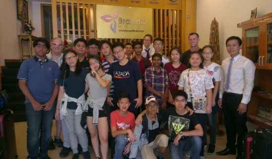 Brandi Hotel: Hotel staff and UCSI international school
