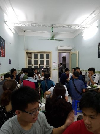 Inside the cafe, top floor. very busy.