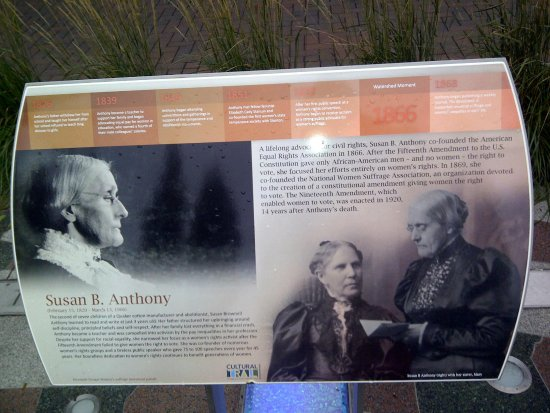 Indianapolis Cultural Trail: Susan B Anthony