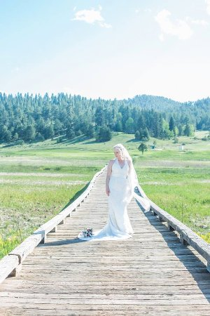 Shining Mountain Golf Course: Included in the wedding package is a little trip on golf carts out to beautiful locations like t