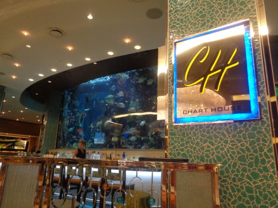 Chart House Sign And Fish Tank
