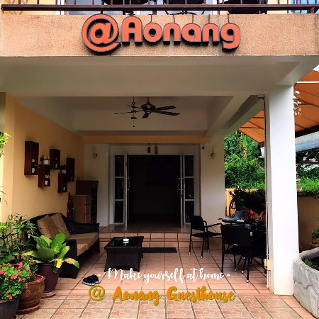 At Aonang Guesthouse: Front Entrance