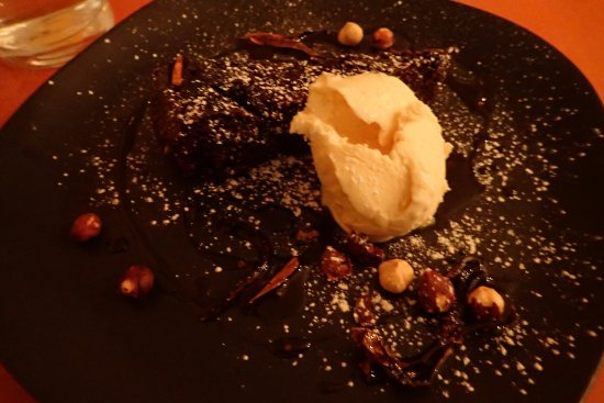 Long Jetty, Australia: chili chocolate cake with vanilla bean ice cream