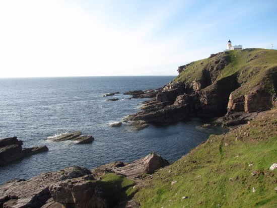 Stoer Lighthouse is a short drive from the B & B.