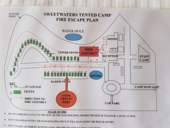 Sweetwaters Serena Camp: Tent plan.