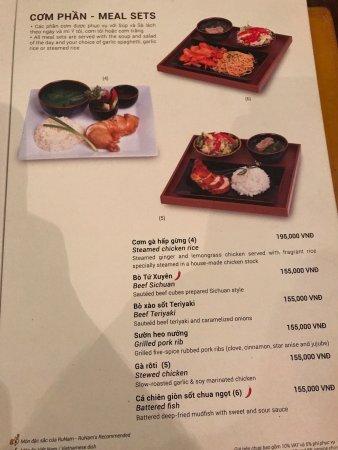 dating cafe hanoi menu