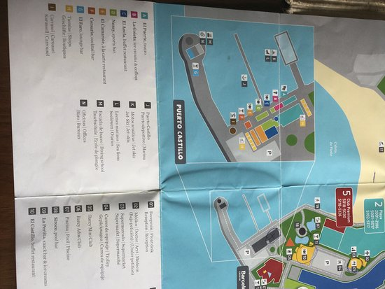 Map of hotel facilities and grounds Picture of Barcelo Castillo