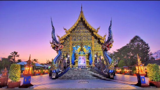 Thaton, Ταϊλάνδη: Экскурсия по храмам Чианг Рая / Голубой Храм