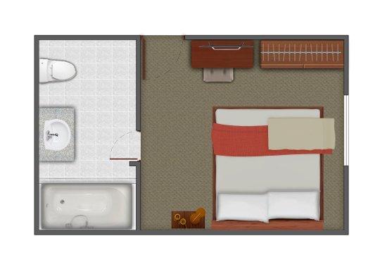 Suite familiar con 2 dormitorios 2 ba os sala comedor for Plano habitacion online