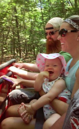 Hart, MI: Olivia loving the Dune ride!